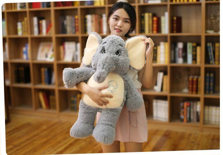 small lovely plush elephant toy cute stuffed elephant doll about 68cm big creative plush elephant toy lovely stuffed jungle elephant gift doll about 80cm