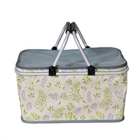 Camping picnic bag Aluminum Alloy Picnic Basket family folding lunch bag outdoor portable coolers fridge beer ice box