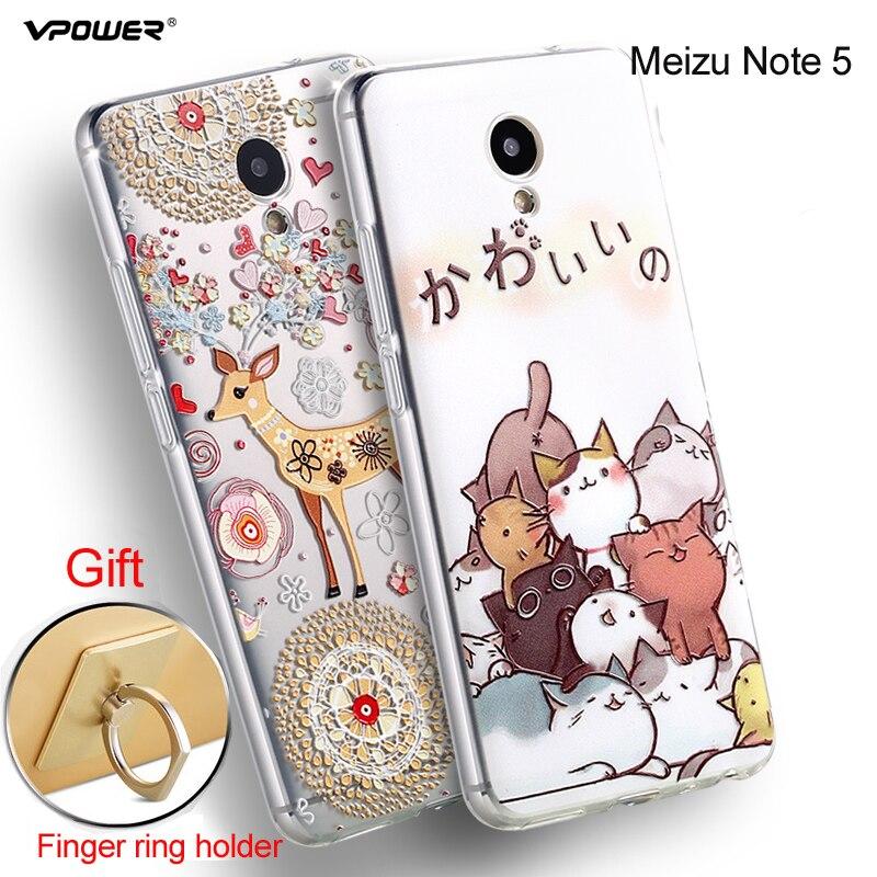 Meizu M5 Note Case Cover Vpower 3D Relief Luxury Soft - Reservdelar och tillbehör för mobiltelefoner - Foto 4