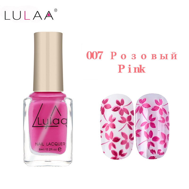 LULAA Stamp Stamping Nail Art 12 Colors Nail Polish Optional Nail ...