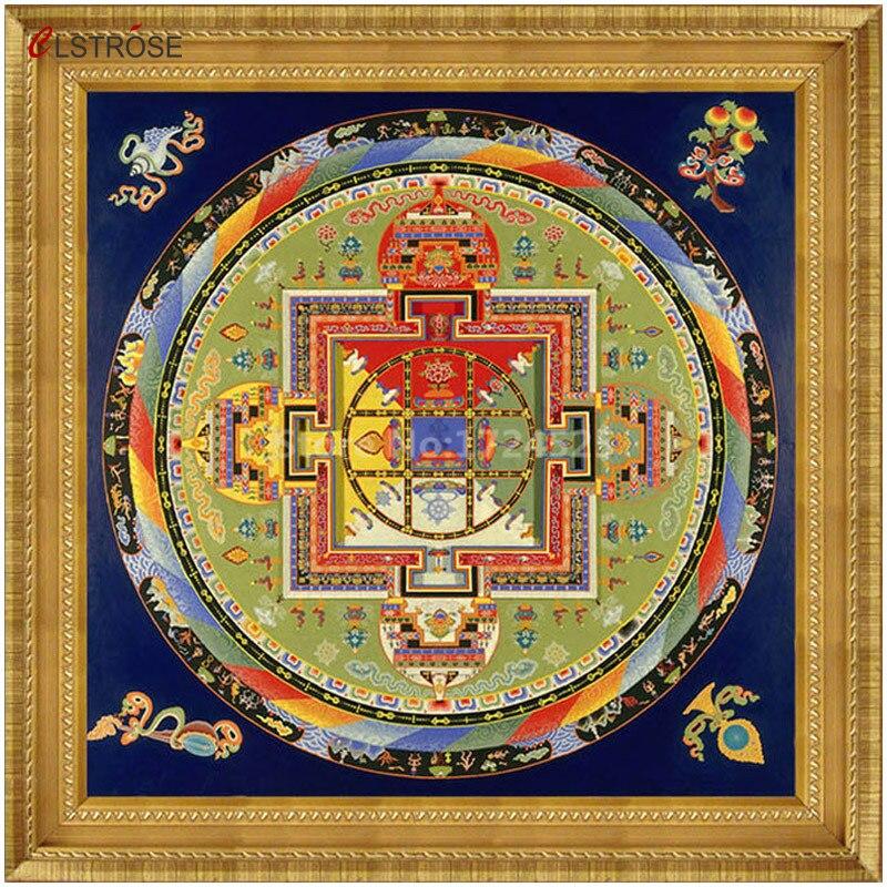 CLSTROSE, лидер продаж, Тибет тангка, Современная Настенная живопись на холсте, тибетская мандала, Ом, Йога, Вера, Будда, домашний декор