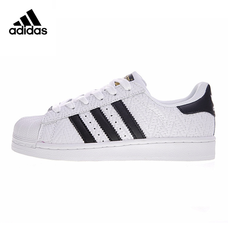 Best buy ) }}Adidas SUPERSTAR Men's and Women's Skateboarding Shoes, White, Wrap-around Warm Waterproof Shock-absorbing CP9758