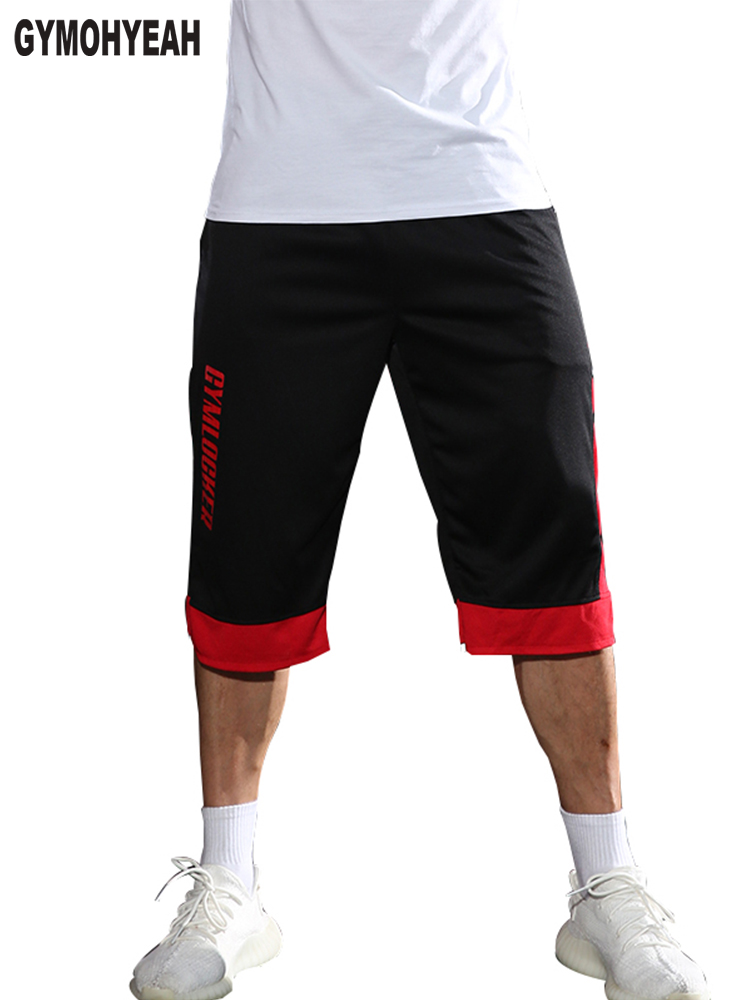 GYMOHYEAH Mens Shorts Fitness Bodybuilding Joggers Gyms Workout Sporting Casual Brand