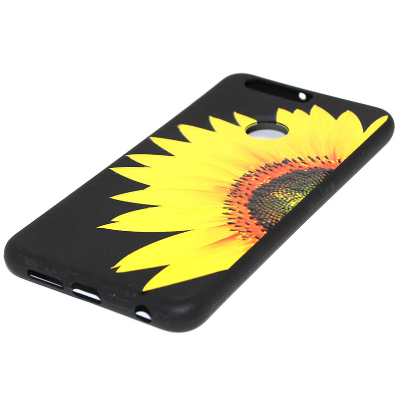 3D Relief flower silicone case huawei honor 8 (43)