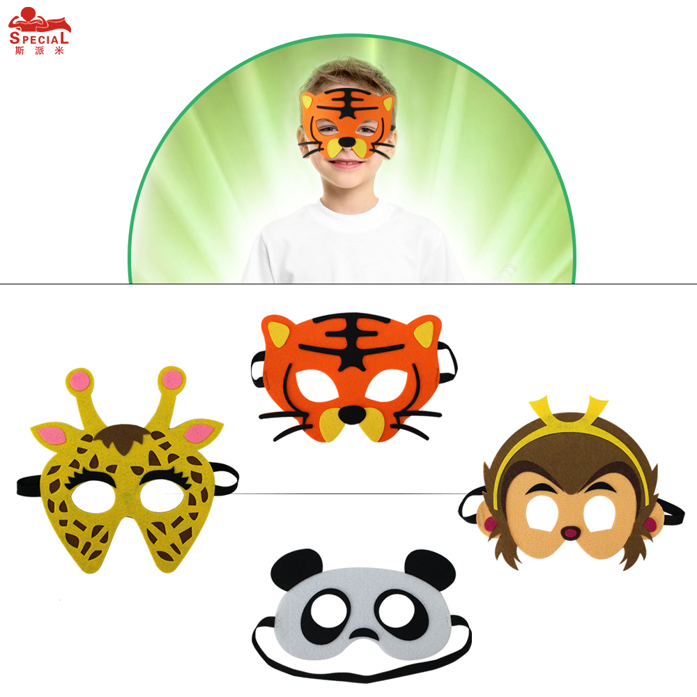 SPECIAL Thick Felt Animal Mask For Kids Monkey Costume Character - Kostumer - Foto 1