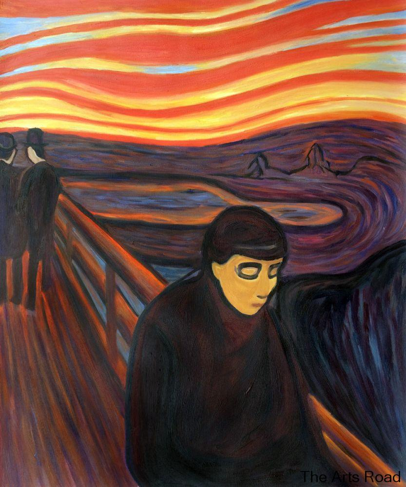 картина мунка отчаяние - 100% Hand Painted Painting on Canvas Despair, 1894 by Edvard Munch Wall Paintings Abstract Art Portrait High Quality