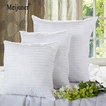 Meijuner, Квадратная Белая Подушка, внутренняя вставка, мягкий полипропиленовый хлопок, для домашнего декора, диванная подушка на стул, подушка на сиденье