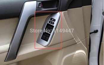 Car Door Handle Holder Window Lift Swift Cover Trim For Toyota Prado FJ150 2010 2011 2012 2013