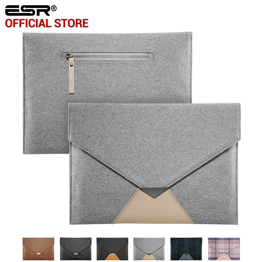 For iPad Pro 12.9 inch Case Sleeve, ESR Felt Protective Carrying Bag with Back Pocket Pencil Holder Pouch for iPad Pro 12.9 inch projectdesign protective hard carrying pouch case for wii nunchuck controller red