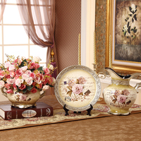 decoration Home Furnishing ceramic vase three sets of luxury living room decoration wedding ceremony