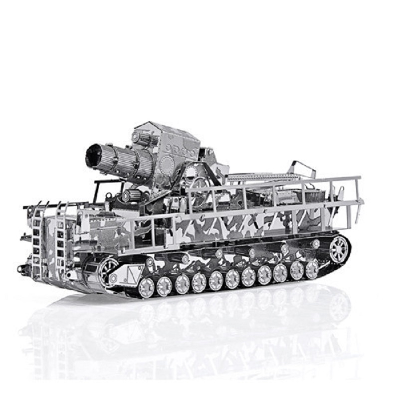 Piececool Tank Models 3D Metal Puzzle Railway Gun Tank Models DIY Laser Cutting Puzzles Jigsaw Model For Adult Kids Toys