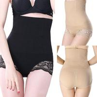 2017 Quality Guarantee Lady High Waist Trainer Tummy Control Thong Seamless Underwear Shaper Shapewear Polyester Lace