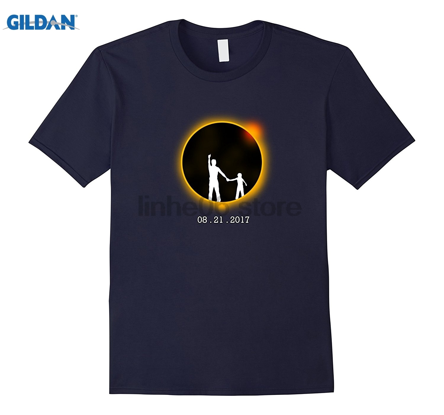 GILDAN Father and Son Solar Eclipse August 21 2017 Mothers Day Ms. T-shirt