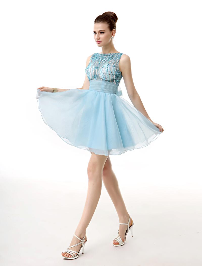 rhinestone short dress A-line