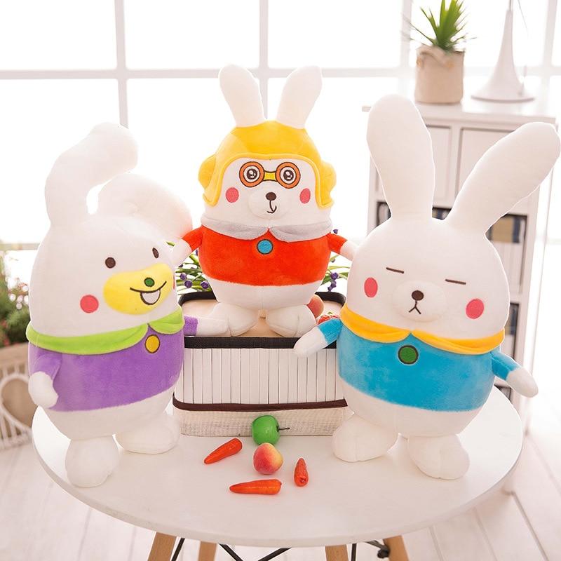 Ny kreativ rolig kanin docka plysch leksak kudde fylld djur baby barn gåva