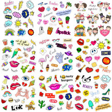 Alien Punk Skull Iron on Patches Cute Small Animal Letter Heat Transfer Stickers Clothes Decor Appliques Stranger Things Print E