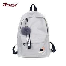 da3929bb5be2 Меховой моды мяч портфель школьный для девочек рюкзак для женщин 2018  подростковый школьный дух колледжа школьник