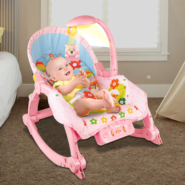 9af054bc0 Online Shop Baby Music Light Care Chair Newborns Folding Bed Baby ...