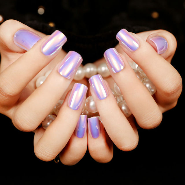 2016 New Arrival Fashion French High Light Long Nails Tips Multiple ...
