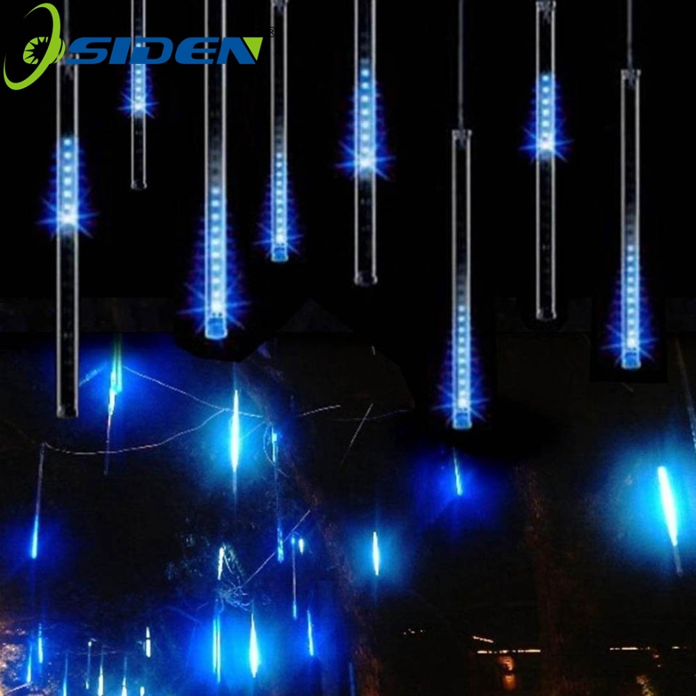 OSIDEN Meteor Tube Shower Rain String 30CM LED Christmas Light Wedding Party Garden Xmas String Light Outdoor NewYear DecorLight