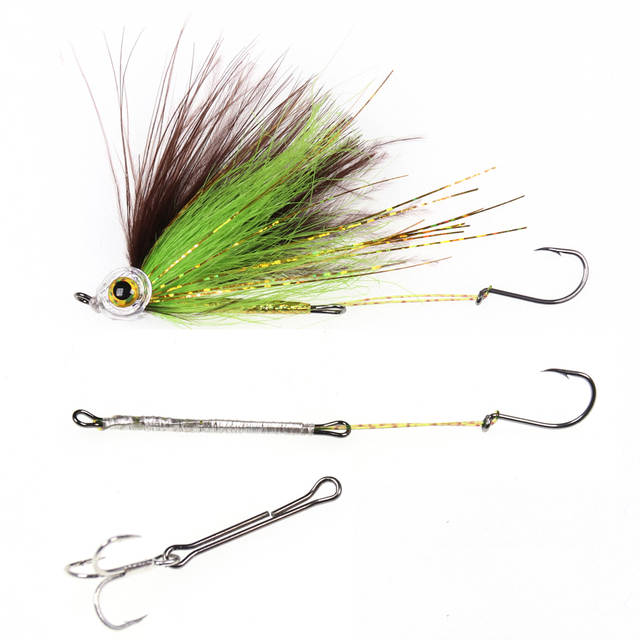 Bimoo 20PCS/Bag Fly Hook Waddinton Shanks for Salmon & Trout