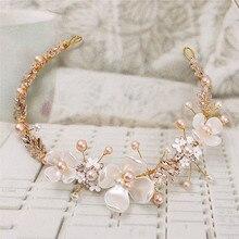 Korea High Quality Handmade Cotton  Flower Crown Wedding Hair Accessories For Girls Headband Band