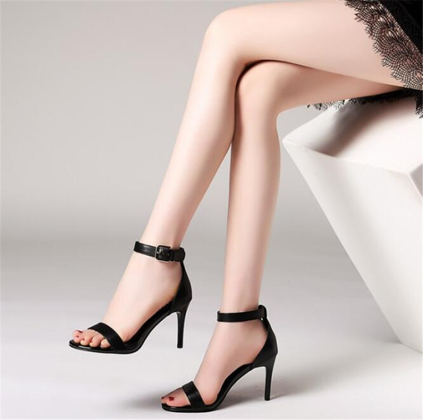 MLCRIYG New style square shoes with high heels and fashionable sandals