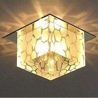 1 quadrado de luz moderna led k9 cristal luz de teto para sala estar luzes luminárias  lâmpada incluída  ac 90 v ~ 260 v