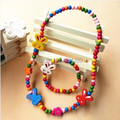 Wholesale 3Set Girls Kids Childrens Birthday Party Necklace Bracelet Set Jewelry,Princess Birthday Gift