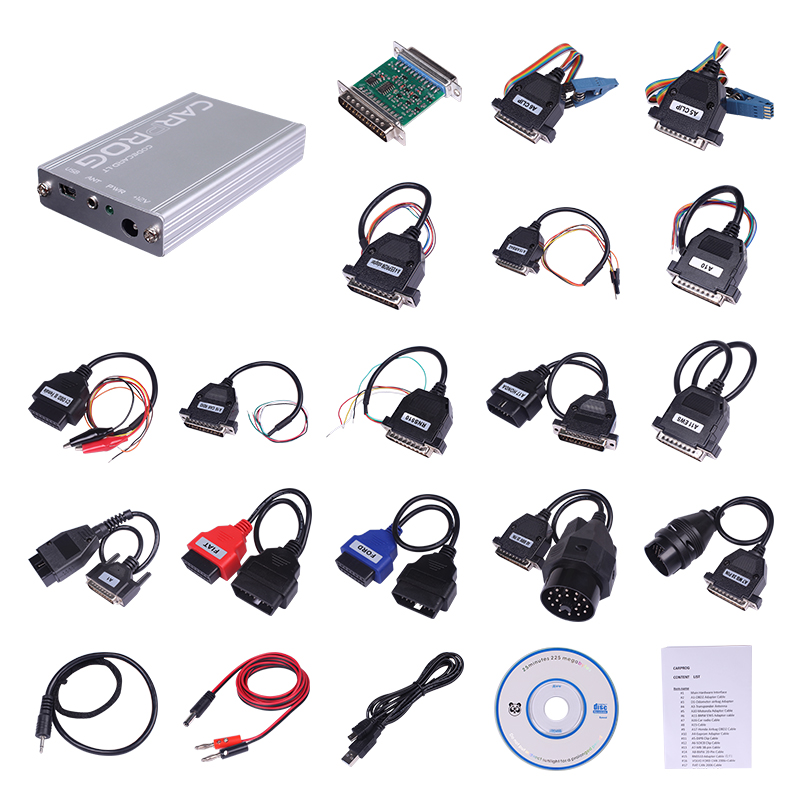 US $80 0 |DHL Free Carprog V8 21 Online Access Clone programmer with full  21 adapters ECU Chip Tuning better than 7 28 and 10 93 on Aliexpress com |