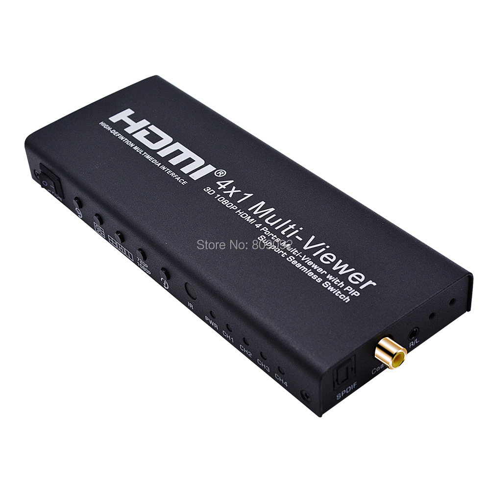 3D 1080P HDMI 4x1 Quad Multi-viewer with PIP Support Seamless Switch HD Video Splitter Compliant with PIP Segmentation Converter 1 x 4 hdmi splitter hdmi 1 4 with 3d 4k support