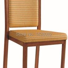 Качественные Роскошные сильные деревянные алюминиевые обеденные стулья LQ-L802