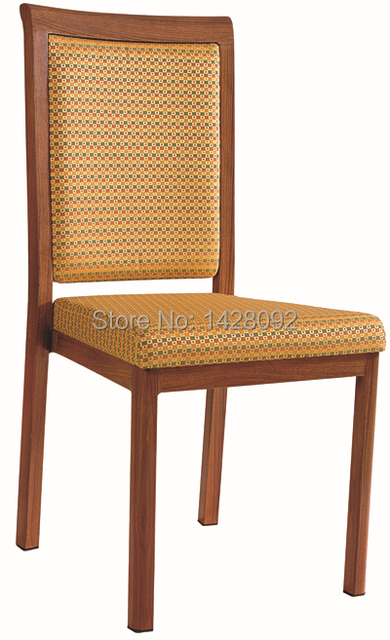 wholesale quality luxury strong  woodgrain aluminum dining chairs LQ-L802