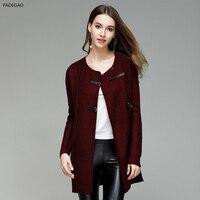 2017 New Fashion Autumn Winter Long Cardigan Women Sweater Long Sleeve Knitted Cardigan Female O Neck