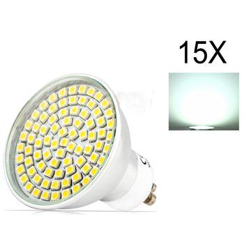 15X Aluminum High Bright Energy Saving AC195-240V SMD 3528 LED Spotlight GU10 LED Bulb 5W LED Bulbs Light Spotlight High quality