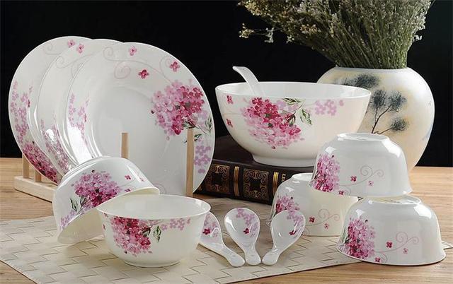 40pcs/lot floral fine bone china dinnerware set ceramic food storage food container & 40pcs/lot floral fine bone china dinnerware set ceramic food ...