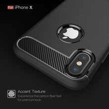 For iPhone X Case Luxury Hybrid Soft Case Silicone Coque Slim Armor Carbon Fiber Brushed Case For iPhone X Cover Shell