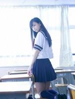 Sommer Japanischen Schuluniformen JK Sailor Mavy Kurzarm-t-shirt Hochschule Weiblichen Anzug Rock Freies verschiffen