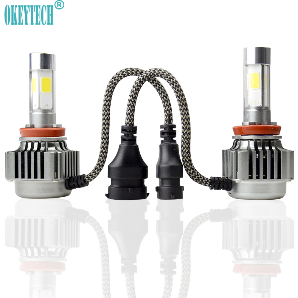 Automobiles & Motorcycles Tcart 1set High Bright 80w 8000lm Auto Led Bulbs White Head Lamps Car Led V8 H1 H7 H11 9005 9006 H4 H13 9004 9007 Cob Headlights Car Lights