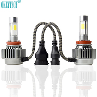 1 Set V8 COB LED Headlight H4 H7 H8 H9 H11 9005 9006 9004 9007 H13