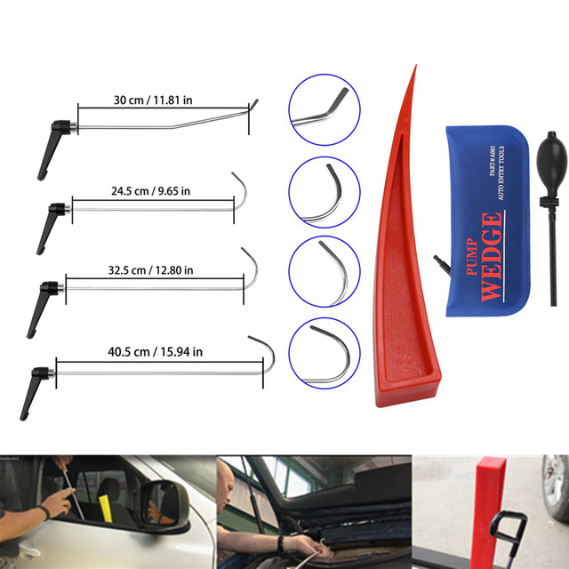 Newly Design pdr Rods Set of Tools Hook Tool  with pum wedge Push Rod best hook Paintless Dent Repair