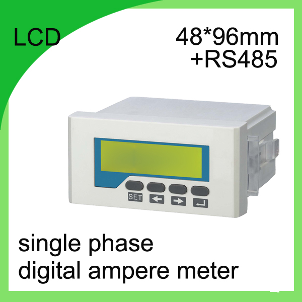 ФОТО single phase digital ampere meter LCD current meter  ammeter Class 0.5 digital current meter with RS485 communication