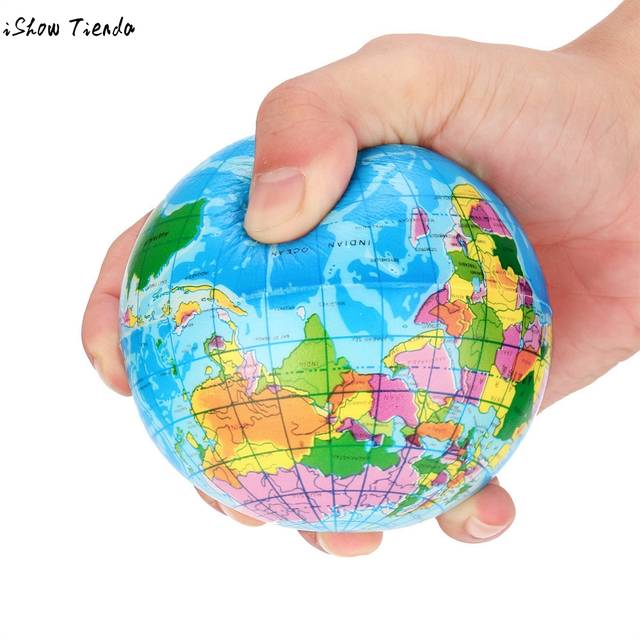 Atlas Globe Map.Online Shop Antistress Funny Toy Stress Relief World Map Foam Ball
