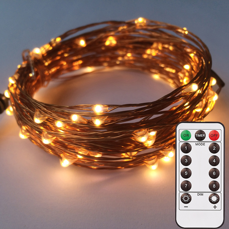 Lights & Lighting Charitable 8 Model Battery Operated Fairy Lights 10m/33ft 100 Leds Remote Dimmable Timer Indoor Outdoor Waterproof Rope Twinkling Lights