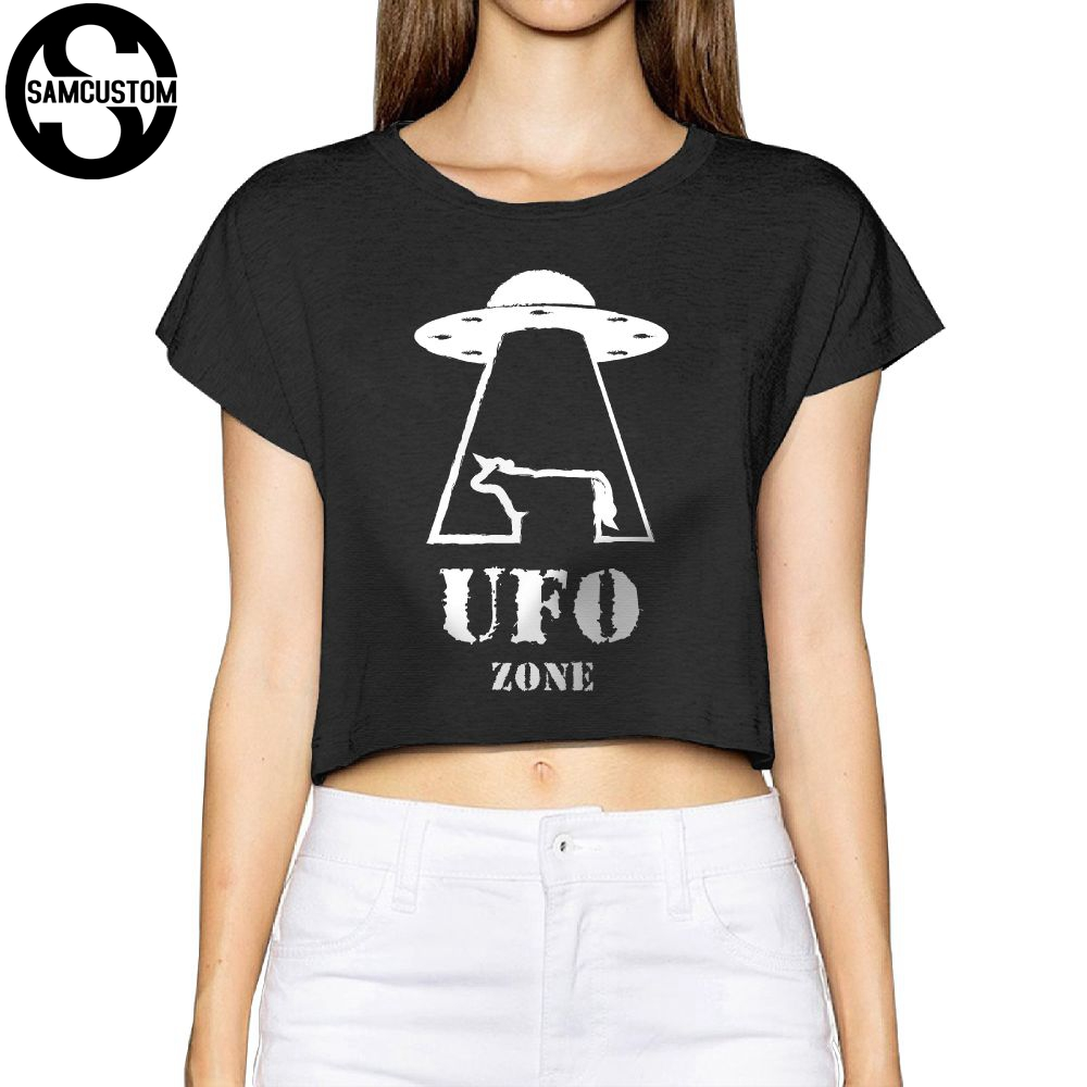 SAMCUSTOM Camisetas Real Short ufo zone alien 3D printing Summer Fashion Street T Shirt Anarchy Bare midriff Sexy T-shirt Women thumbnail