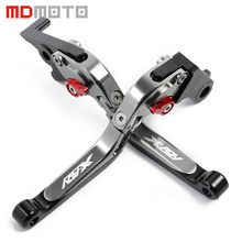 New arrived With logo X-ADV titanium red motorcycles CNC Adjustable Extendable Brake Clutch Levers For Honda XADV 750 2017 2018