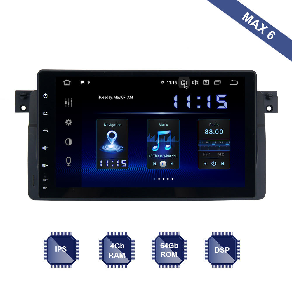 Android 9 0 Car Radio 2 Din GPS Navi for BMW E46 M3 318i 320i 325i