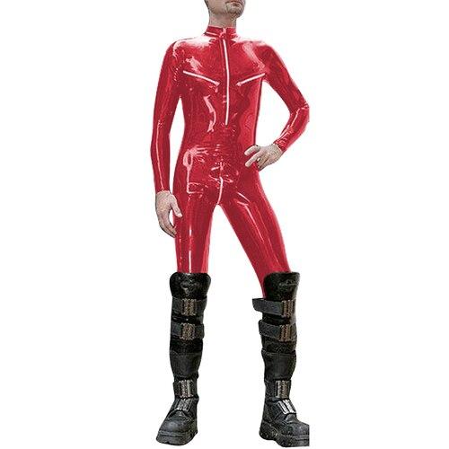 Nouveau 100% Latex caoutchouc rouge costume body costume 0.4mm XXS-XXL