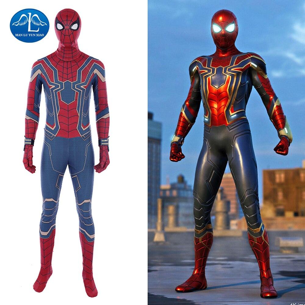hot sale avengers infinity war cosplay spiderman costume halloween