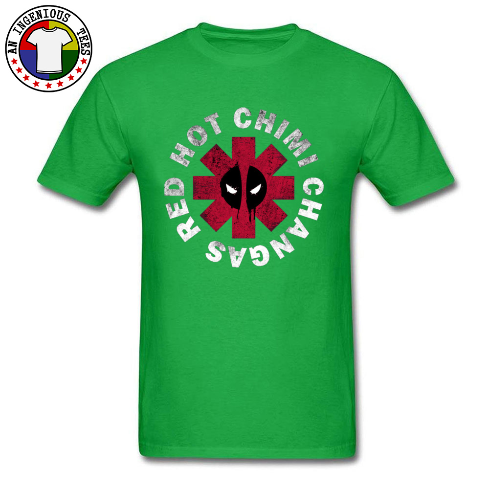 Slim Fit Deadpool Red Hot Chimi 1226 Short Sleeve April FOOL DAY Tops Shirt New Coming O Neck All Cotton Tee-Shirt Male Tshirts Deadpool Red Hot Chimi 1226 green